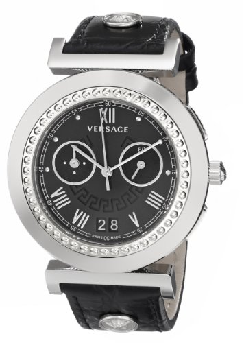 Versace Vanity Chrono Chronograph Quarz Leder VA9010013