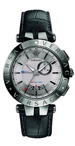 Versace Herren 29 g98d535 S009 V race GMT Alarm Analog Display Quartz Black Watch
