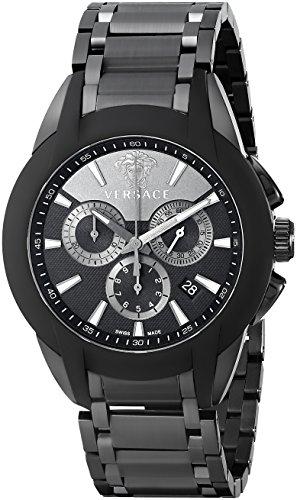 Versace Herren Armbanduhr XL CHARAKTER CHRONO Chronograph Quarz Edelstahl beschichtet M8C60D008S060
