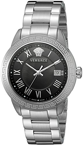 Versace Herren p6q99gd008 S099 Paar Display silber Quarz