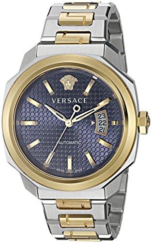 Versace Maennern dylos Automatische Edelstahl casual Armbanduhr Farbe zweifarbig Modell vag030016