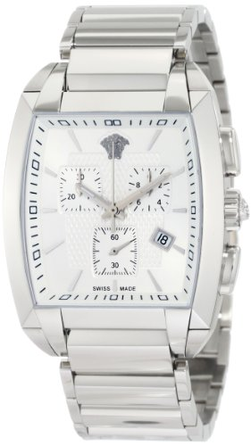 Versace Herren WLC99D002 S099 Character Tonneau Chronograph Stahl Armbanduhr
