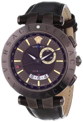 Versace Herren-Armbanduhr Xl V-Race Analog Leder 29G60D598S497