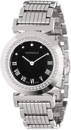 Versace Damen-Armbanduhr XS Vanity Analog Quarz Edelstahl P5Q99D009S099