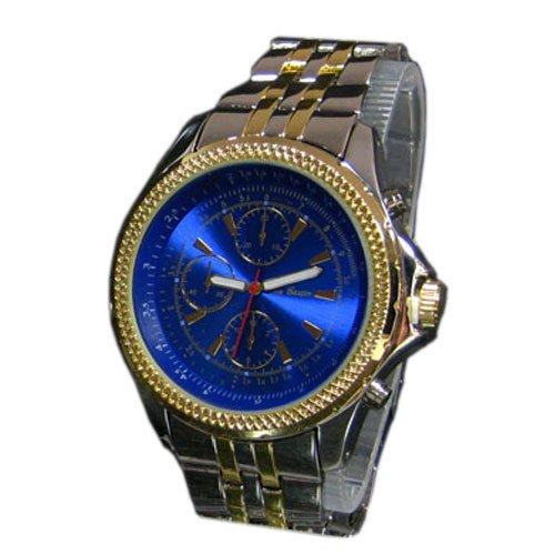 Massiv Blau Gold Chrono Look Exklusiv Modische Edle Quarz Jay Baxter