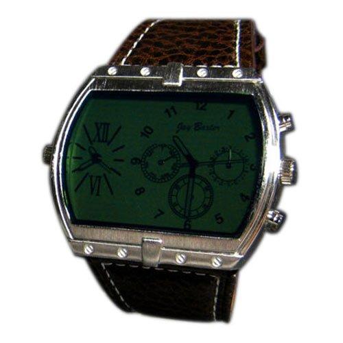 Herrenuhr Dual Timer Braun Gruen Retro Look Weiss XXL Herren Design U Boot Uhr