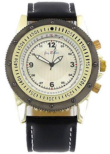 Jay Baxter Analog Watch XXL Leder Armband Uhr moderne Maenneruhr