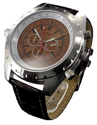 Jay Baxter XXL Men Watch Leder Designer Uhr Quarz Analog Uhrwerk