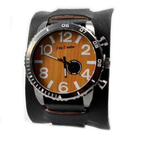 Jay Baxter XXL in Schwarz Braun Chronograph Look in Retro Style Power U boot Militaer Uhr Trend Uhr