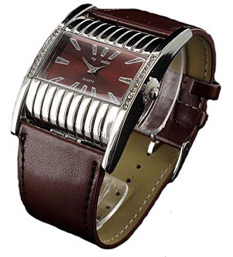 Jay Baxter Retro Strass Armbanduhr matt Leder analog Women Watch