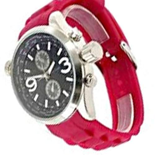 Jay Baxter Rote Retro Uhr Designer Silikonband Herrenuhr