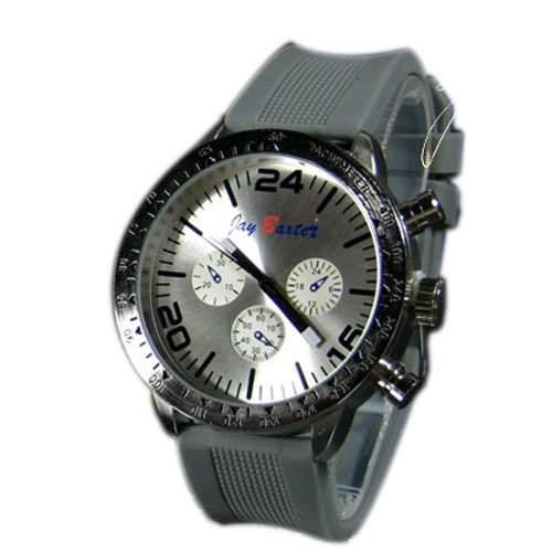 Herrenuhr XXL Silikon Grau Weiss Silber Mode Design Sport Bunt Unisex Herren Uhr
