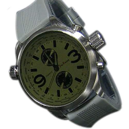 Herrenuhr XXL Silikon Grau Silber Anthrazit Chrono Look Sport Chrom UBoot Uhr