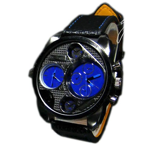 SILIKON UHR XL Mode Schwarz Armbanduhr DUAL Sport STYLE Trend WATCH