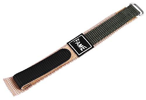 1 Fame Kids zeigt braun gruen Scratch Klettverschluss 22 mm