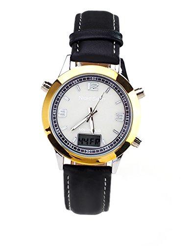 Armbanduhr leuchtend Funkuhr elektrolumineszierend Nightsight Zeit auch bei Nacht ablesbar