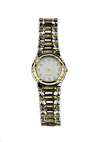 Armbanduhr magnetisch fuer Herren klassisch Farbe Silber
