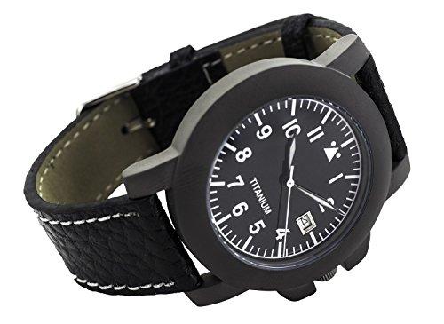 Zeigt Gehaeuse Titan Armband Leder