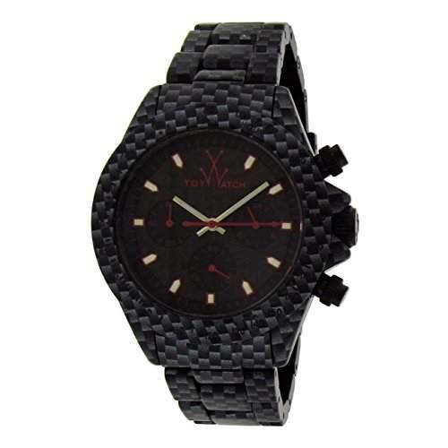 ToyWatch Unisex-Armbanduhr Imprint Analog Quarz One Size, schwarz, schwarz