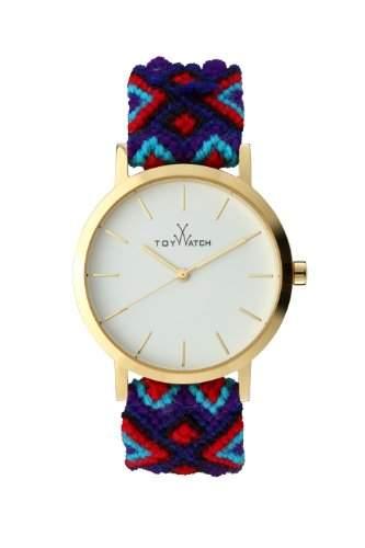 Maya Toywatch Womens Quarz-Uhr mit weissem Zifferblatt Analog-Anzeige und blauem Band MYW07GD - 0940061