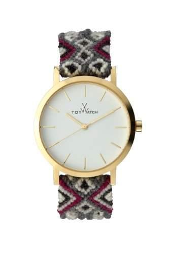 Maya Toywatch WomenQuarz-Uhr mit weissem Zifferblatt Analog-Anzeige und Grau, MYW09GD