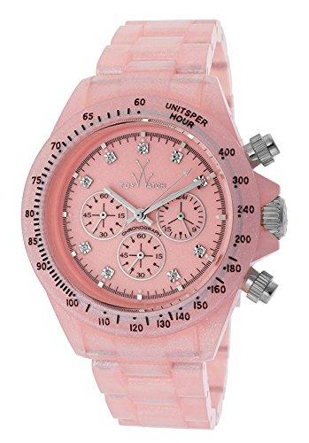 Toy Watch Pearlized Plasteramic Pink Chronograph Unisex watch FLP10PK