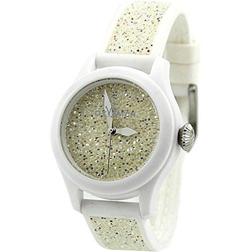 Toywatch Glitter Swarovski Kunststoff Weiss