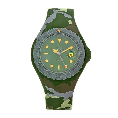 Toy Watch Damen JYA01HG Jelly Army Green Camo Rubber Uhr
