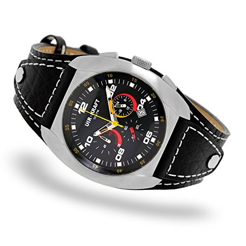 Uhr Kraft 17323 2 Surf Turf Sportuhr Chronograph Lederpad 10 ATM
