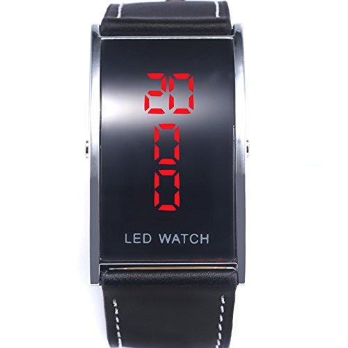 Hanessa LED Digital Armband Uhr in Schwarz Edle Agenten Armbanduhr Herren Damen Geschenk