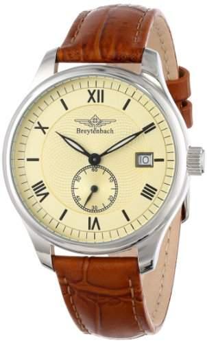 Breytenbach Herren-Armbanduhr XL Kleine Sekunde Analog Leder 88503