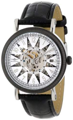 Breytenbach Damen-Armbanduhr Skeletton Analog Automatik Leder BB1390S