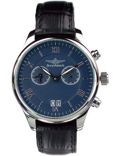 Breytenbach Unisex-Armbanduhr Analog Leder schwarz BB88403B