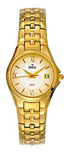 Inex Damen-Armbanduhr Ladies Analog Quarz Kalender Gold A58856D71