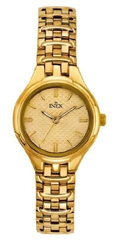 Inex Damen - Armbanduhr Analog Edelstahl beschichtet A12115D7I