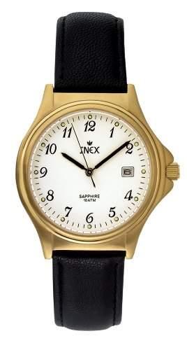 Inex Herren - Armbanduhr Analog Quarz Saphierglas 10 bar Kalender A1502-1D0A