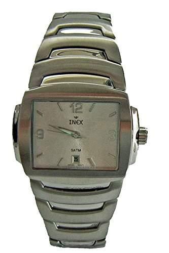 Inex Herren - Armbanduhr Analog Quarz Edelstahl Kalender A2400154I