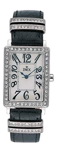 Inex Damen - Armbanduhr Set Analog Quarz mit 3 austauschbarem Armbaendern Leder A69220S11I