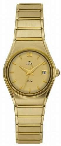 Inex Damen - Armbanduhr Analog Quarz A58783D7I - Kalender - 5 bar