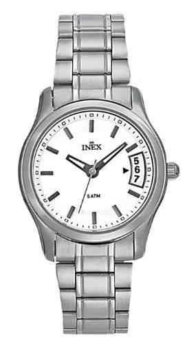 Inex Damen-Armbanduhr Analog Quarz Edelstahl Kalender A58881S4I