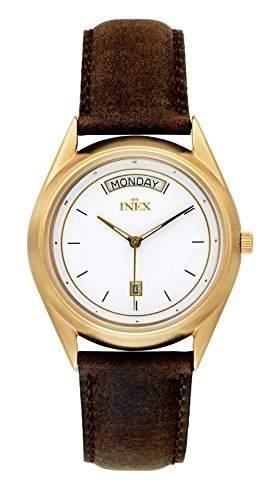 Inex Missinglink Herren-ArmbanduhrAnalog swiss Made Quarz Leder A118D0I
