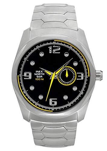 Inex Herren-Armbanduhr Analog Quarz Edelstahl 10 bar A69282S5KV
