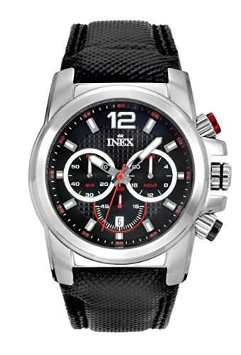 Inex Herren - Armbanduhr Chronograph Analog Quarz Kalender A58930S5I