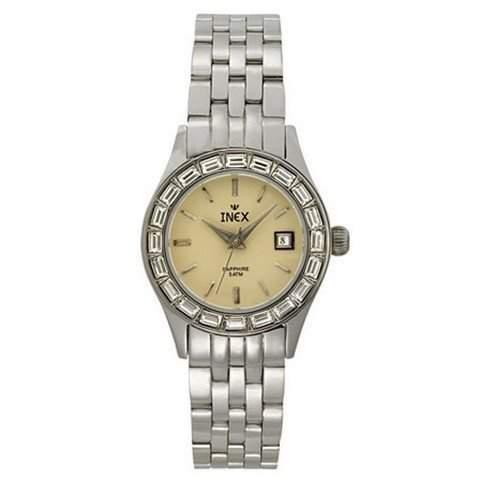 Inex Damen - Armbanduhr Analog Quarz Saphirglas 5 bar Kalender A69332S9I