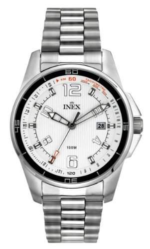 Inex Herren-Armbanduhr Analog Quarz Edelstahl Kalender A69393S4I