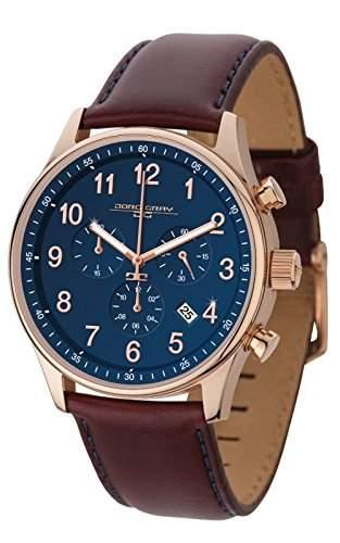 Jorg Gray Herren-Armbanduhr Chronograph Quarz Leder JG5500-21