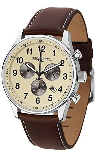 Jorg Gray Herren-Armbanduhr Chronograph Quarz Leder JG5500-22