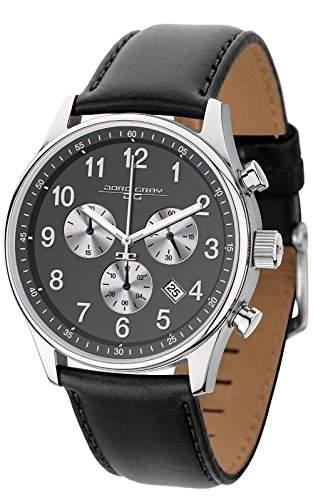 Jorg Gray Herren-Armbanduhr Chronograph Quarz Leder JG5500-23