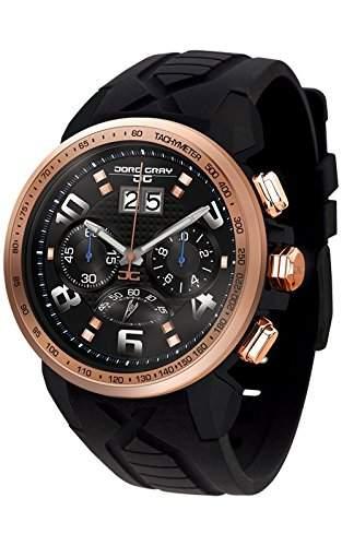 Jorg Gray Herren-Armbanduhr Chronograph Quarz Kautschuk JG5600-22