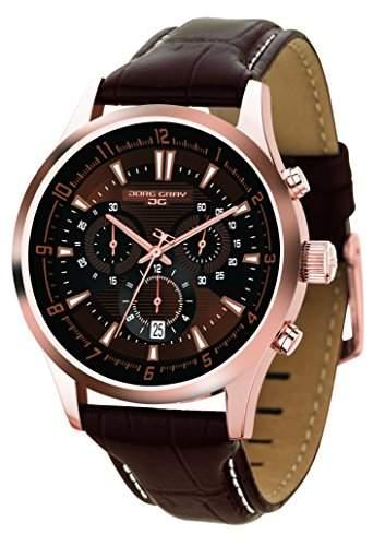 Jorg Gray Herren Armbanduhren Chronograph Quarz Edelstahl JG6800-24